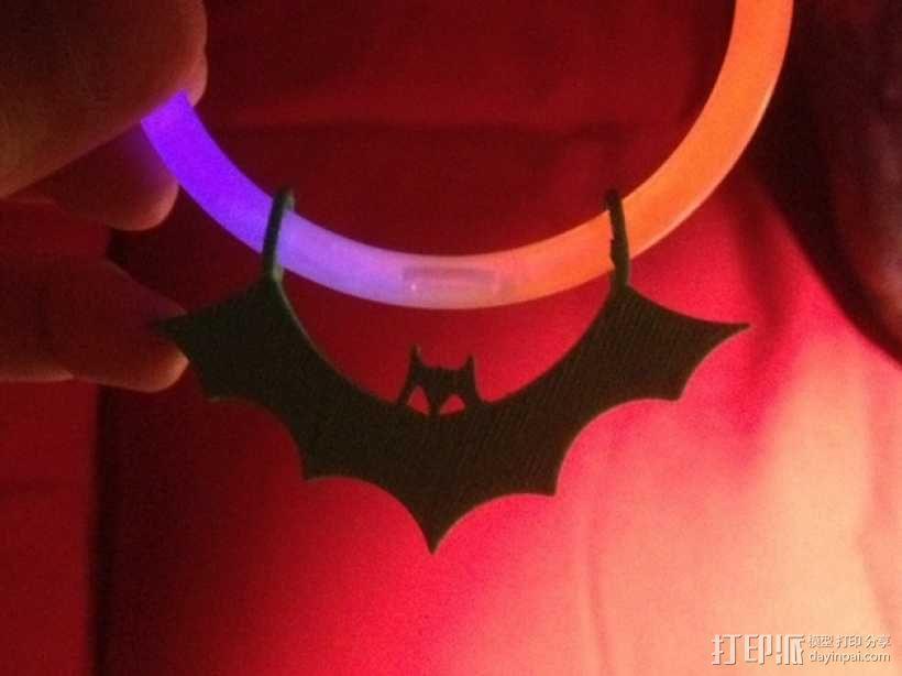 荧光棒的蝙蝠挂饰 3D模型  图3