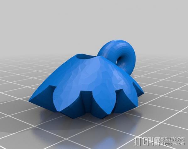 齿轮心 吊坠 3D模型  图2