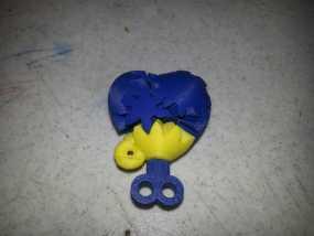 齿轮心 吊坠 3D模型