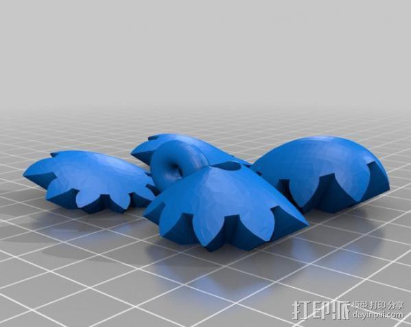 齿轮心 吊坠 3D模型  图4