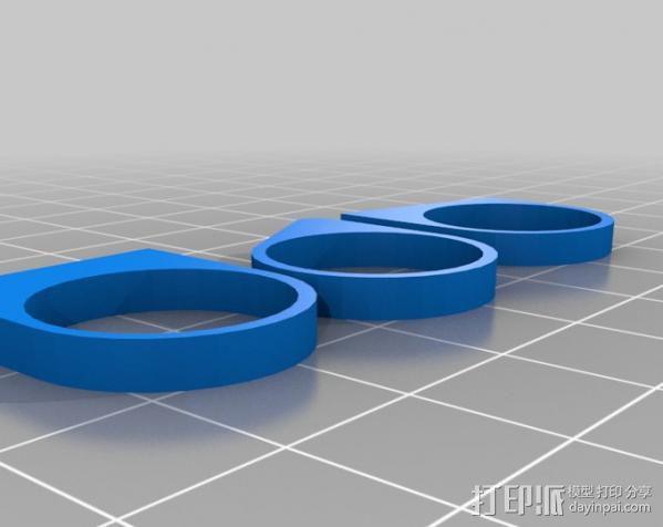 最小的戒指 3D模型  图1