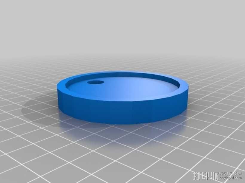 狗狗钥匙链 3D模型  图3