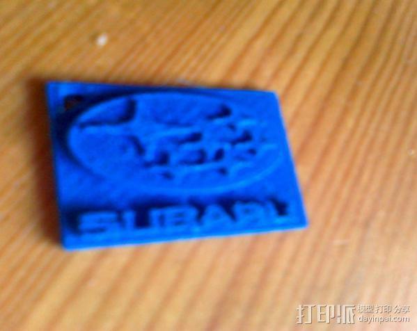 斯巴鲁logo 钥匙链 3D模型  图2