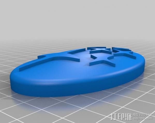 斯巴鲁logo 钥匙链 3D模型  图3