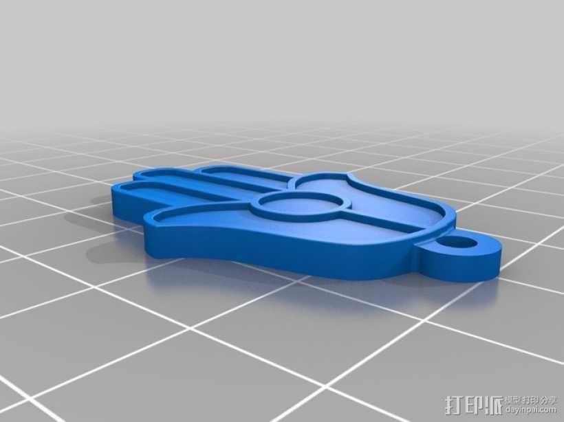 法蒂玛之手钥匙链 3D模型  图1