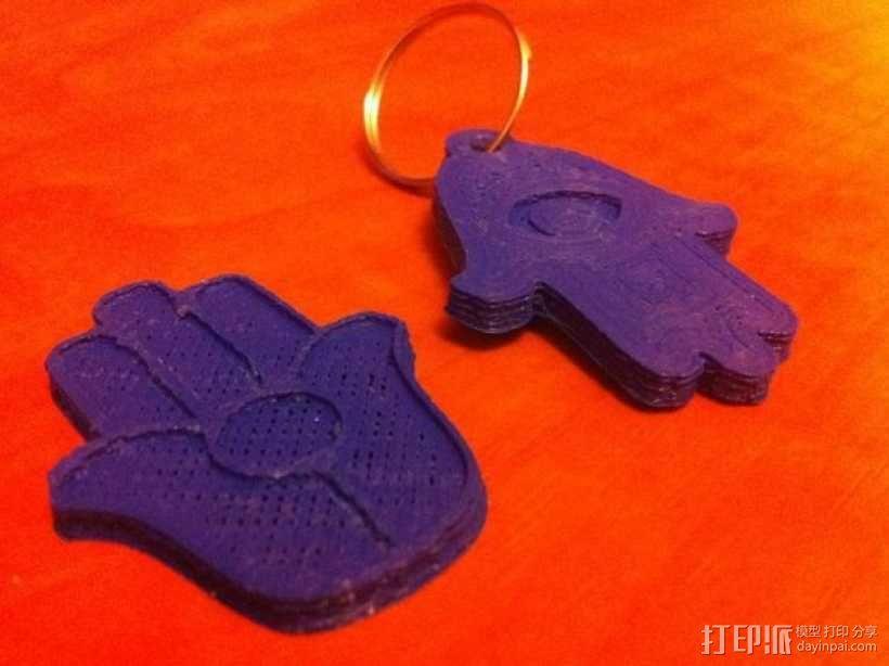 法蒂玛之手钥匙链 3D模型  图3