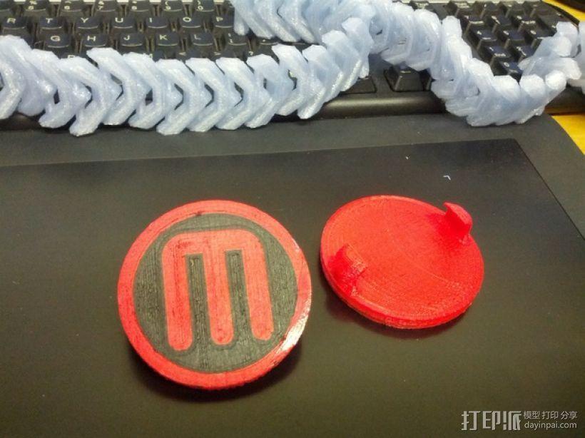 双扣圆币 3D模型  图1