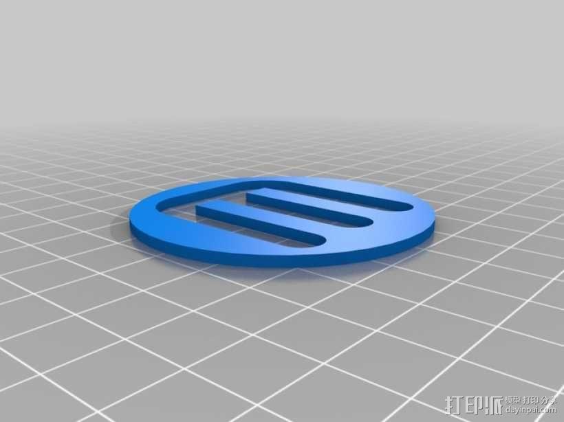 双扣圆币 3D模型  图2