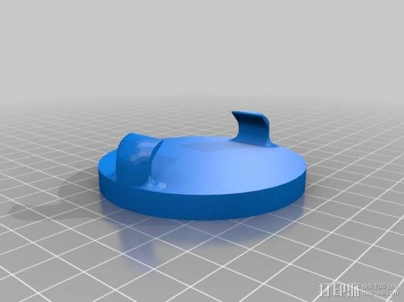 双扣圆币 3D模型  图3