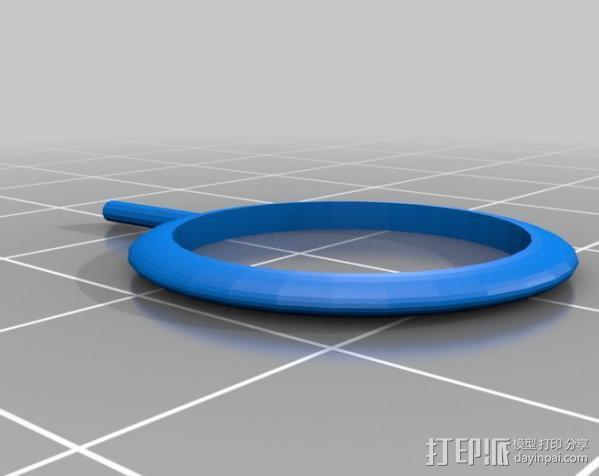 雄鹿头戒指 3D模型  图2