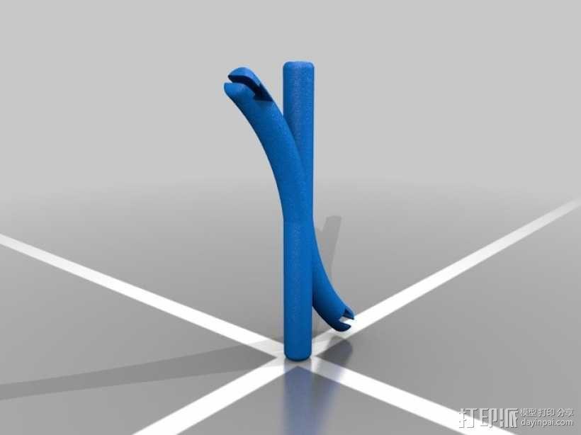 耳机线引导线 3D模型  图1