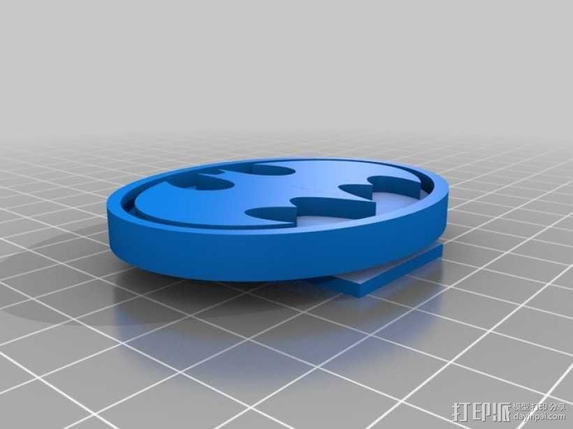 蝙蝠扣 3D模型  图1