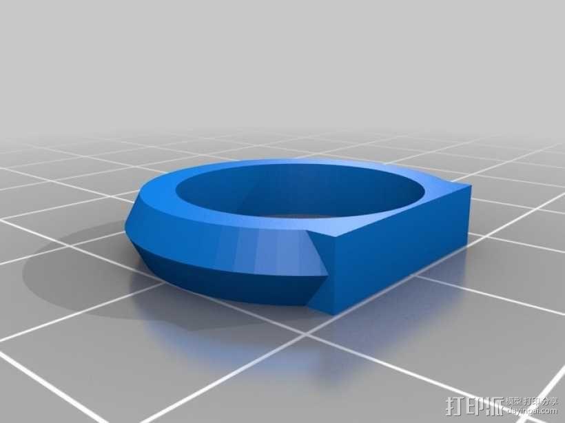 优雅的戒指 3D模型  图2