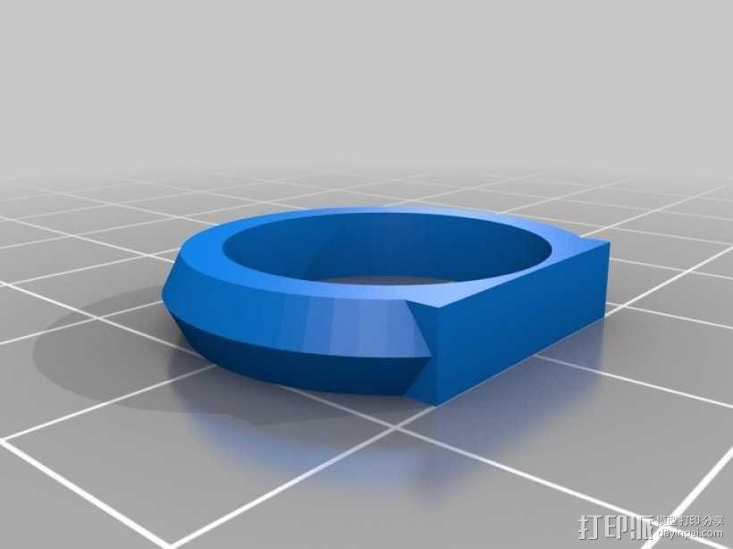优雅的戒指 3D模型  图3