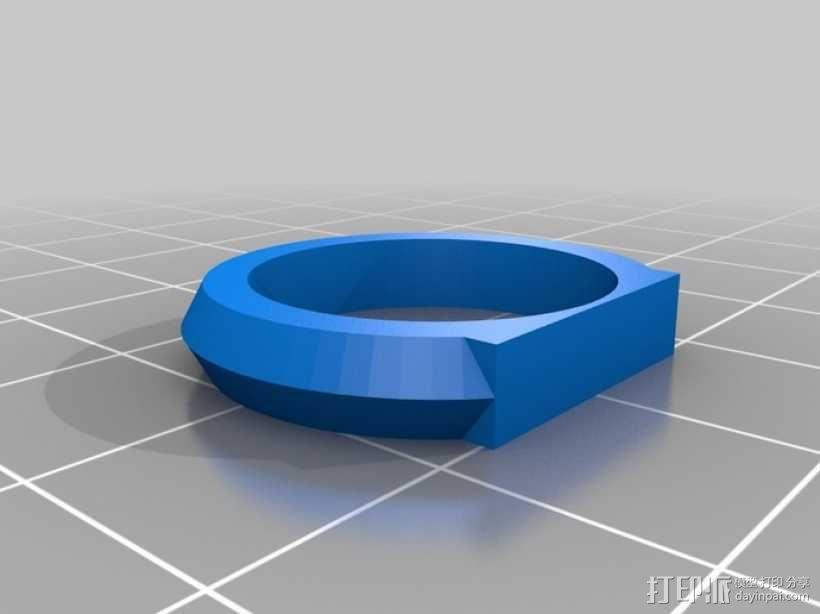 优雅的戒指 3D模型  图5