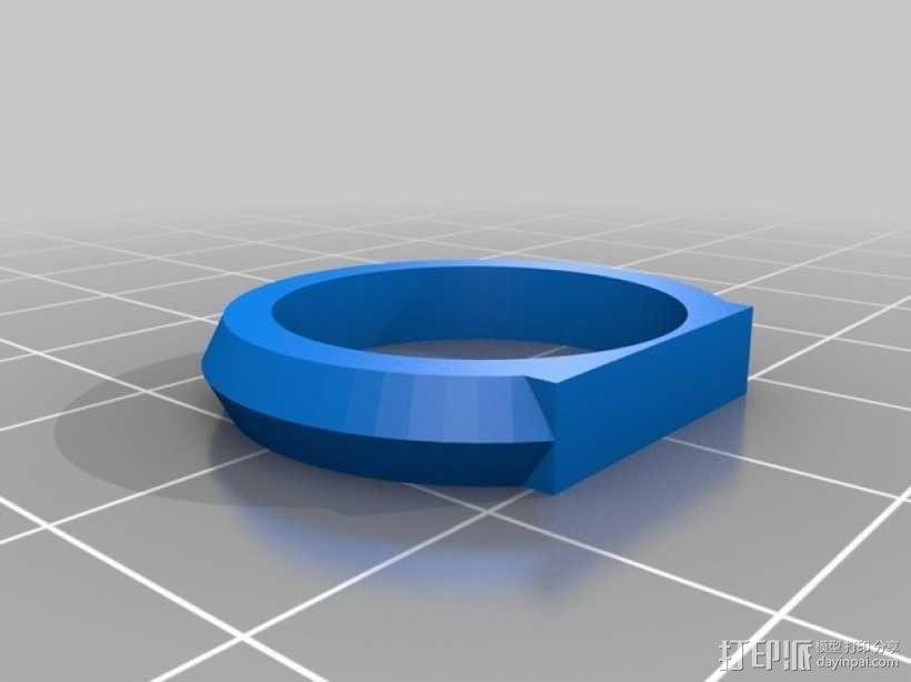 优雅的戒指 3D模型  图4
