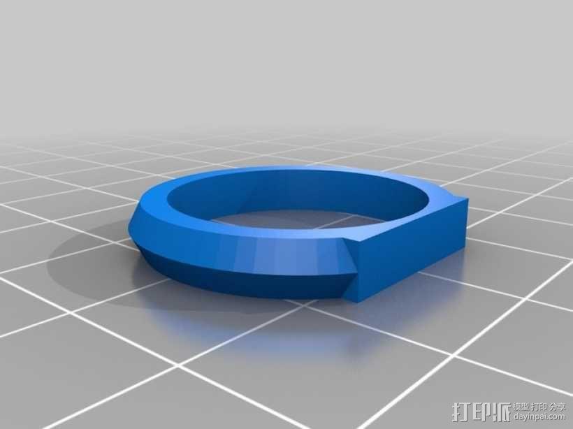 优雅的戒指 3D模型  图8