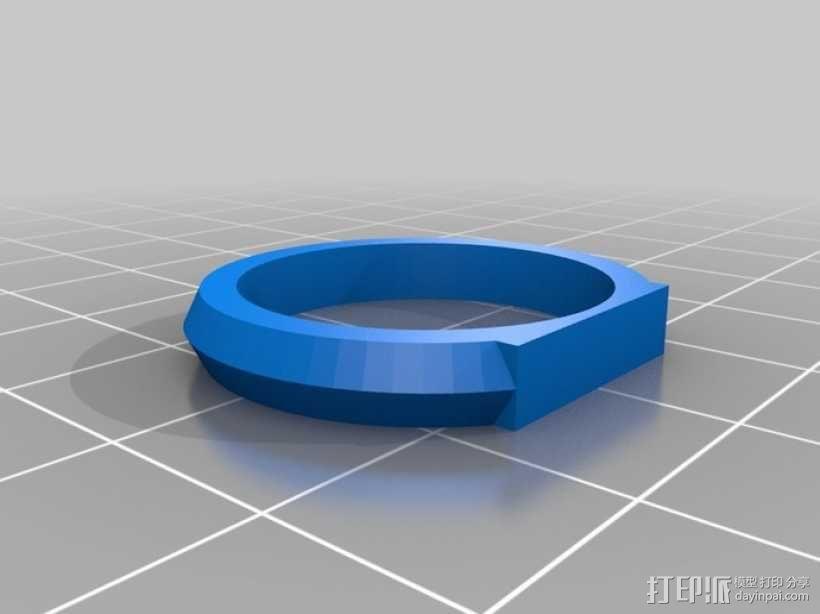 优雅的戒指 3D模型  图9