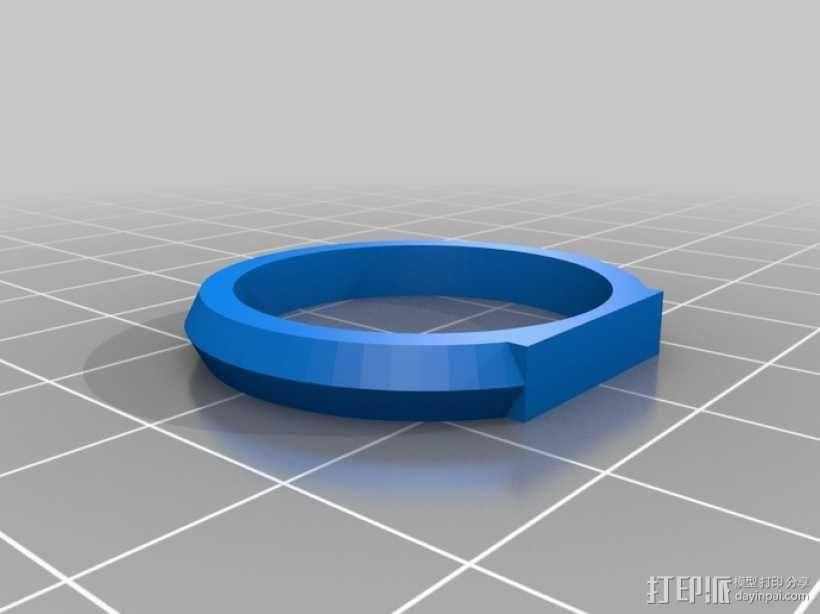 优雅的戒指 3D模型  图12
