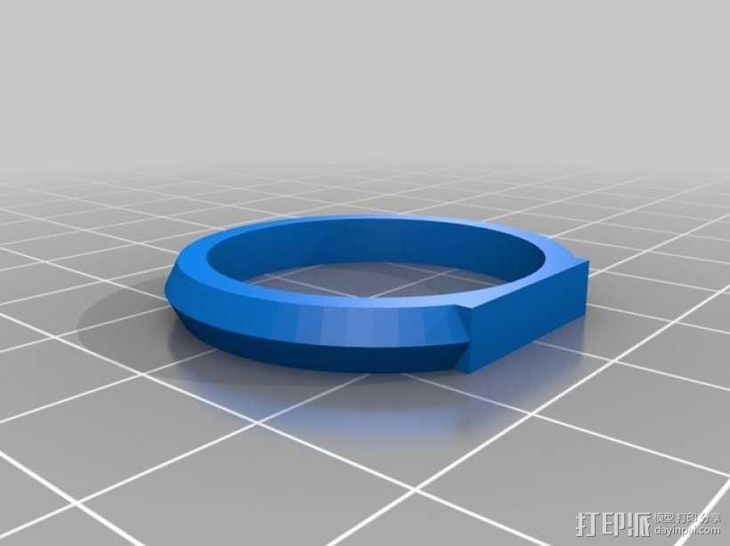 优雅的戒指 3D模型  图13