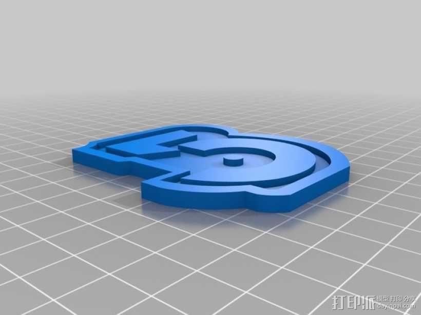巴比伦5号徽章 3D模型  图1
