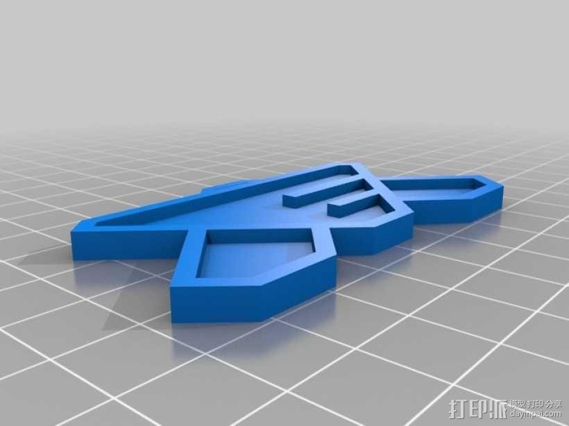 巴比伦5号徽章 3D模型  图2