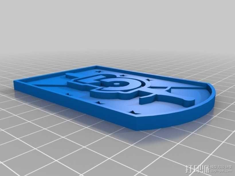 巴比伦5号徽章 3D模型  图3