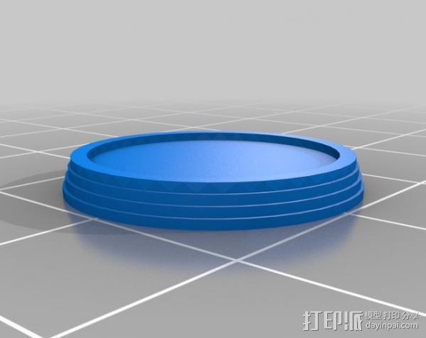符号戒指 3D模型  图2