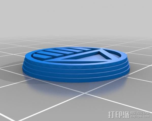 符号戒指 3D模型  图3