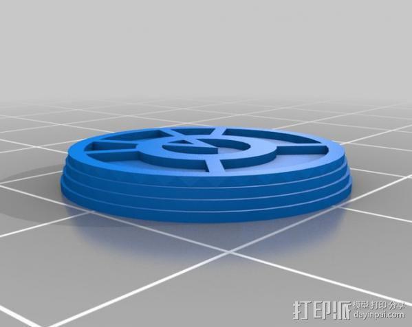 符号戒指 3D模型  图7