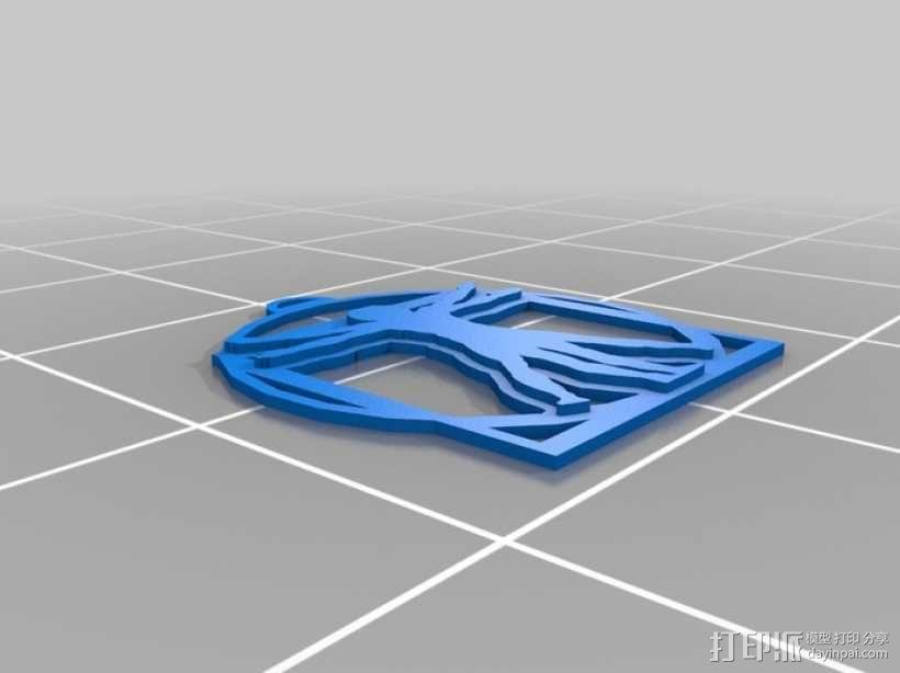 维特鲁威人挂件 3D模型  图1