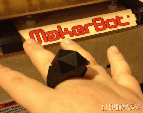 正二十面体 戒指 3D模型  图2