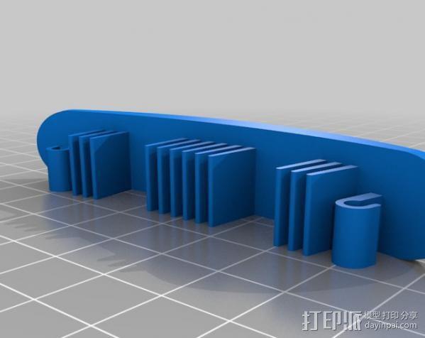 发夹和筷子发夹 3D模型  图5