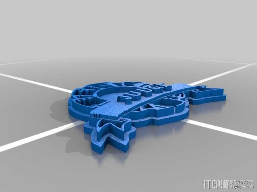 法官徽章 3D模型  图1