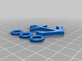 船锚 钥匙链 3D模型