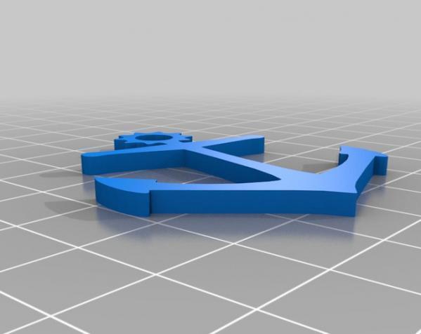 船锚 钥匙链 3D模型  图3