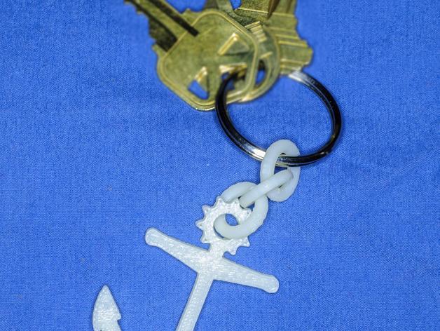 船锚 钥匙链 3D模型  图2