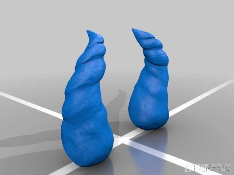 小犀牛角 3D模型  图1