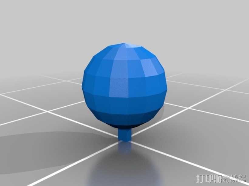 网球拍 钥匙坠 3D模型  图3