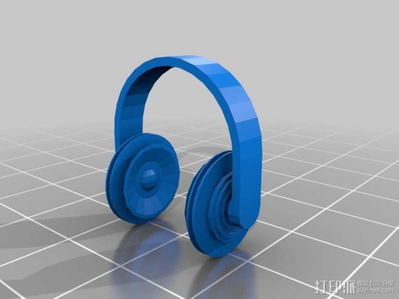 头戴式耳机 3D模型  图1