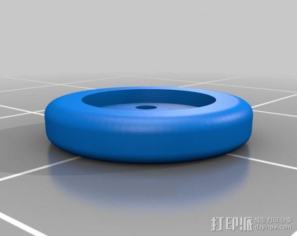 可调节纽扣 3D模型  图2