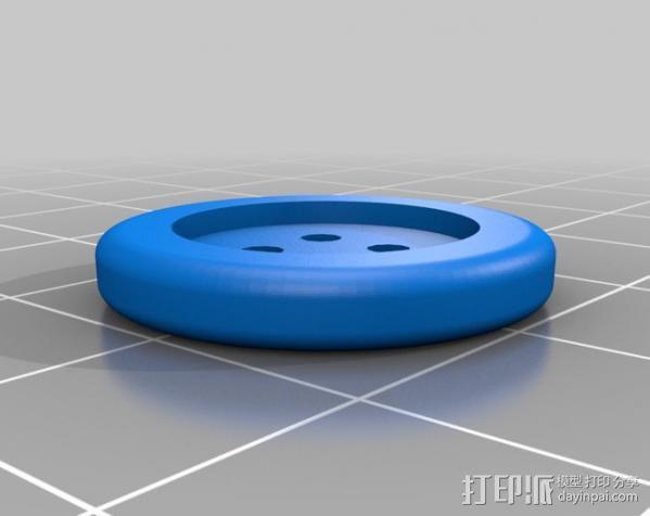 可调节纽扣 3D模型  图3
