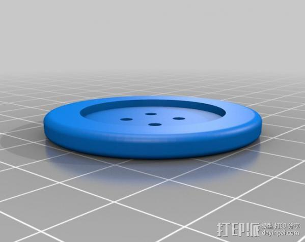可调节纽扣 3D模型  图5