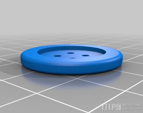可调节纽扣 3D模型  图4