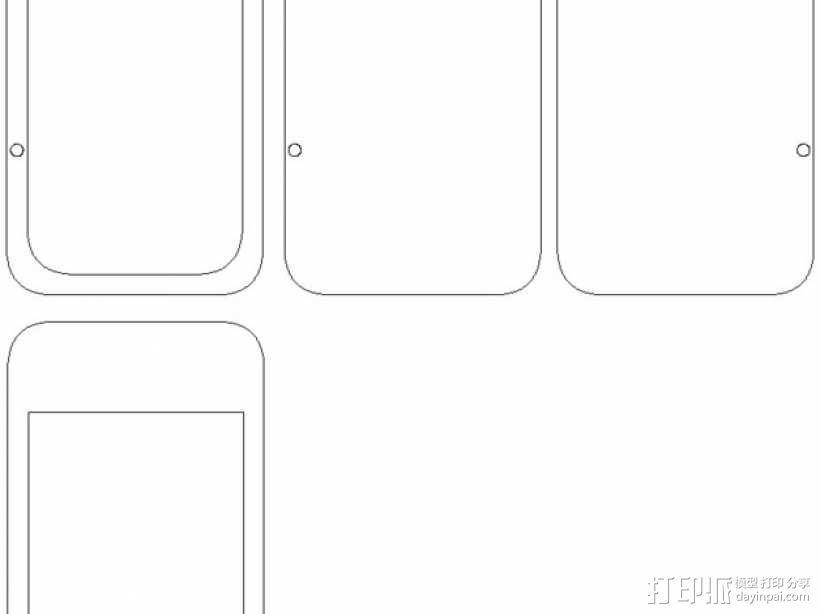 中世纪风格的PDA——IPhone 版 3D模型  图6