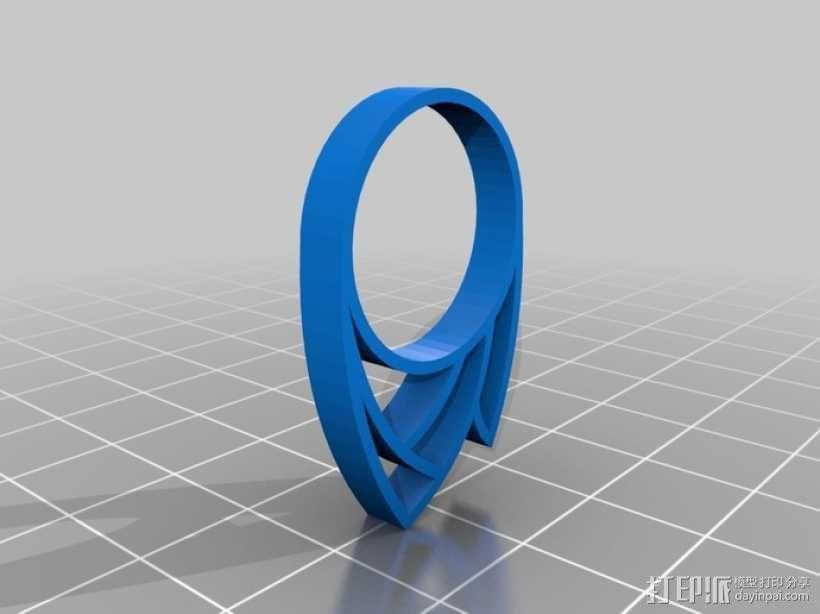 火焰戒指 3D模型  图1
