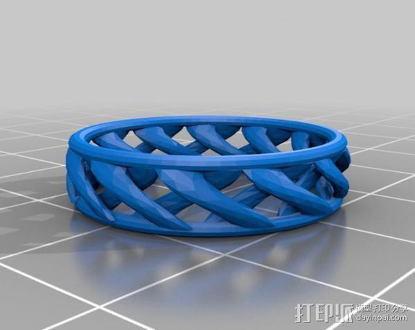 线性结构指环  3D模型  图1