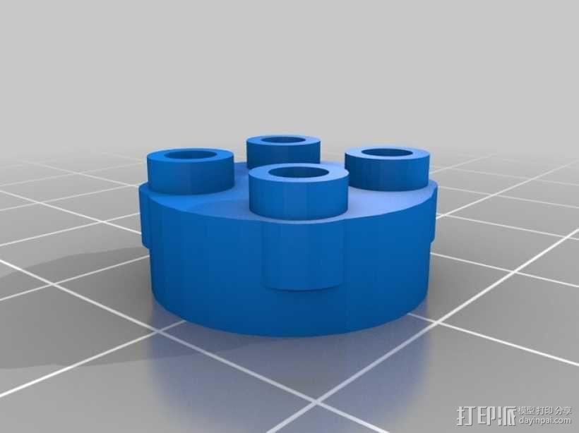 乐高玩具固定槽 3D模型  图2