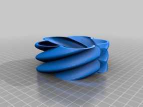 曲型支架 3D模型