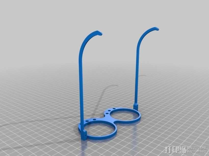带LEDs 的书呆子眼镜 3D模型  图1